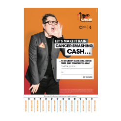 Alan Carr on A3 fundraising poster