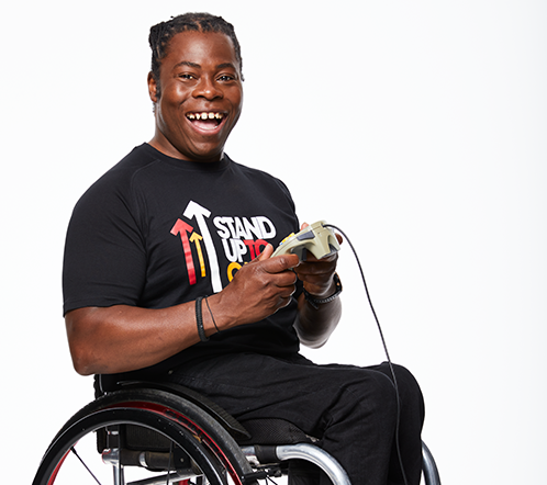 Ade Adepitan Stand Up To Cancer