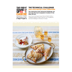 The Great Stand Up To Cancer Bake Off 2021 At Home Technical Challenge Recipe Card