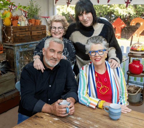 The Bake Off judges and hosts