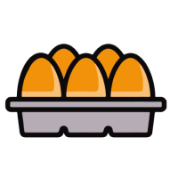 Pack of eggs icon