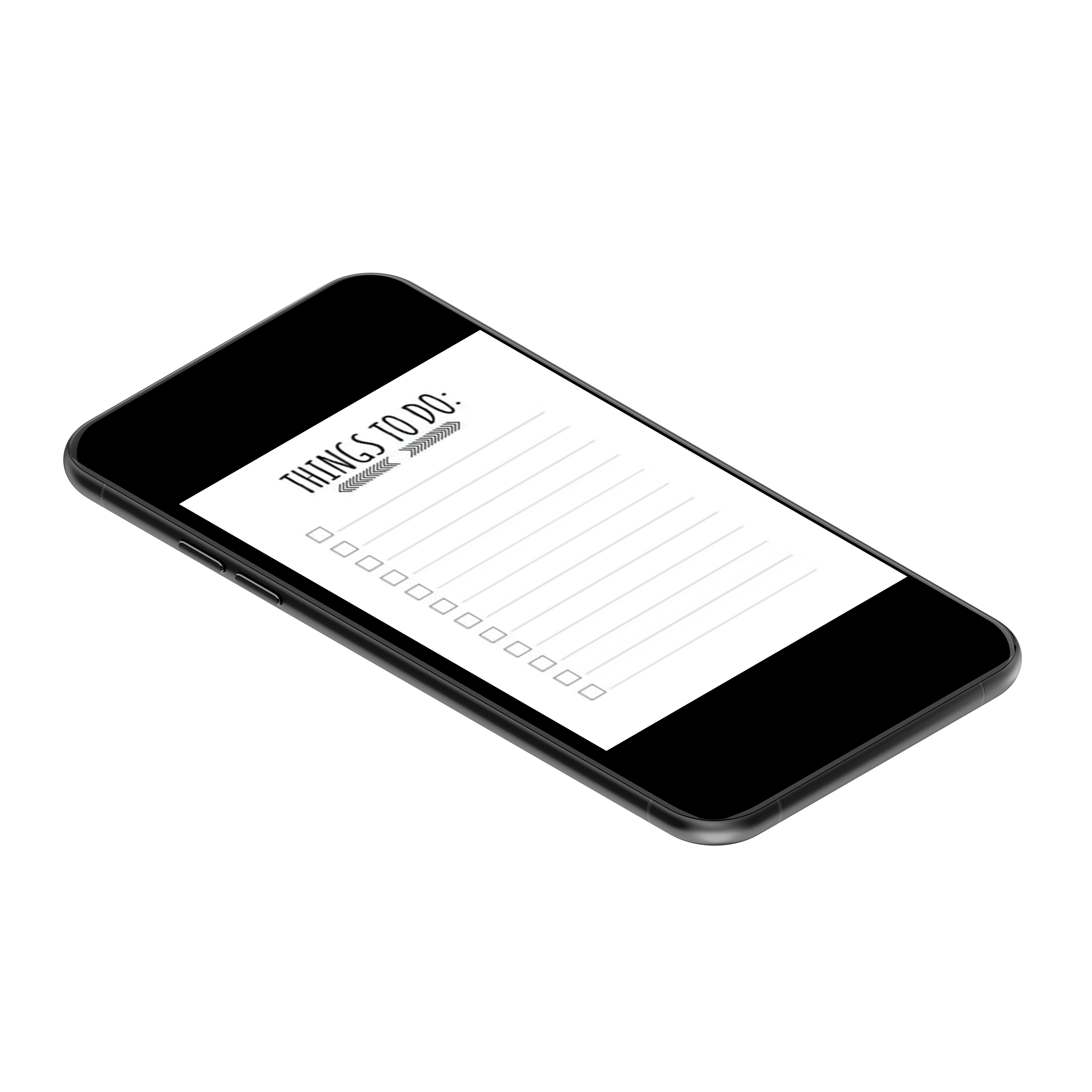 Mobile phone with to do list