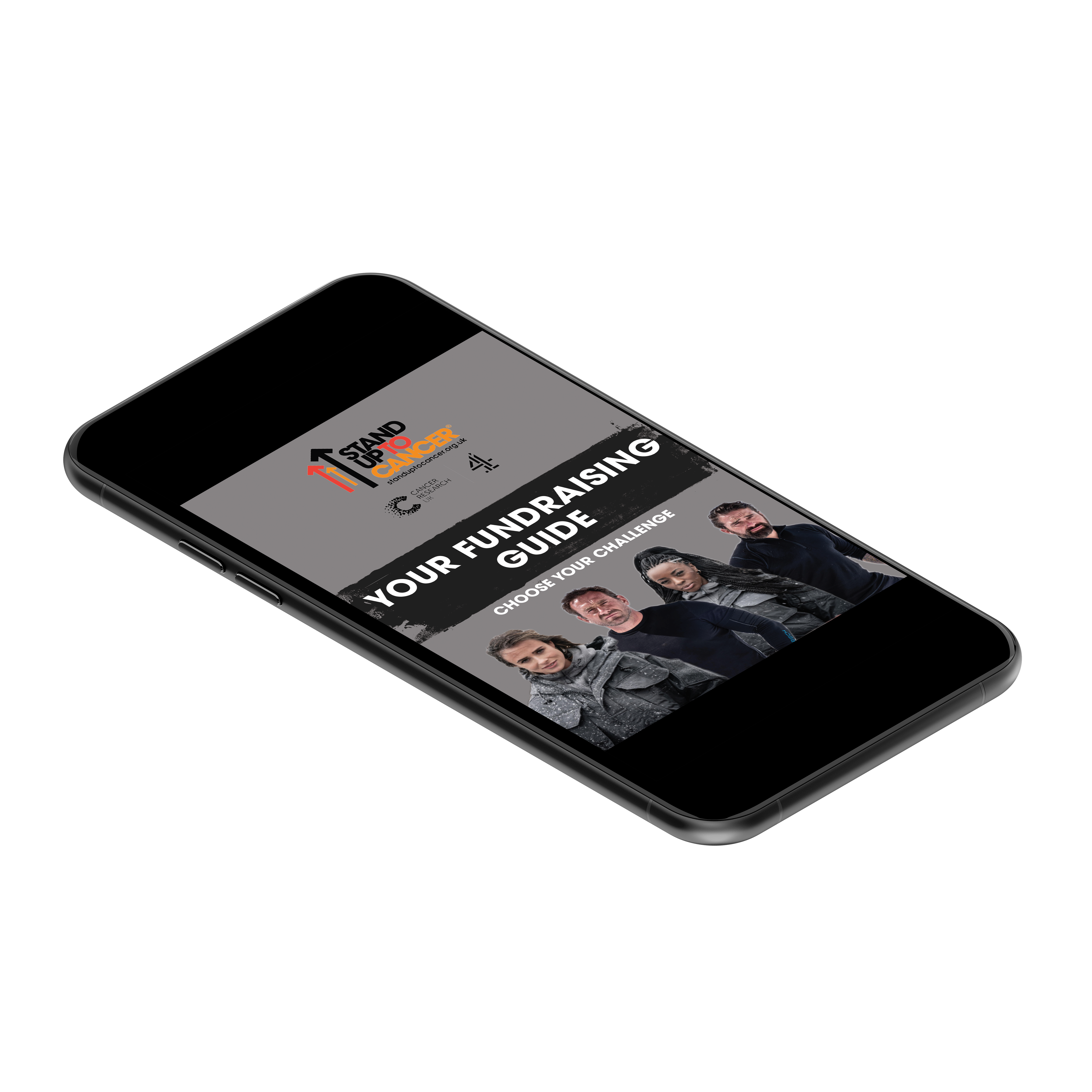 Mobile phone with fundraising pack