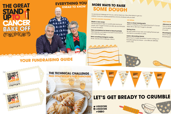 The Great Stand Up To Cancer Bake Off fundraising kit contents