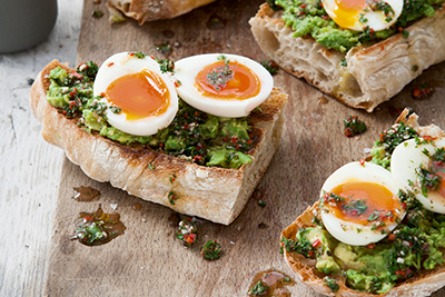 Rosemary Shrager's Soft-Boiled Eggs with Chimichurri and Avocado
