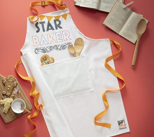 The Great Stand Up To Cancer Bake Off Star Baker apron