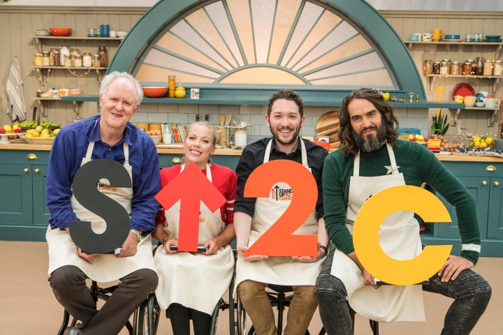 John Lithgow, Jon Richardson, Hannah Cockroft, Russell Brand at the SU2C Bake Off