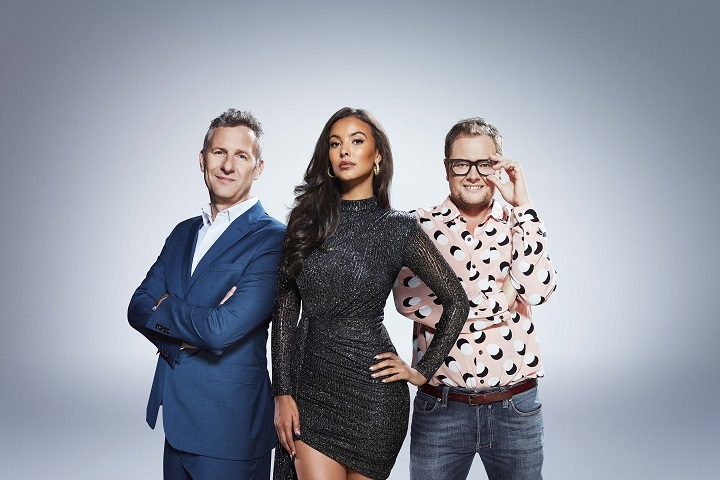 Alan Carr, Maya Jama and Adam Hills