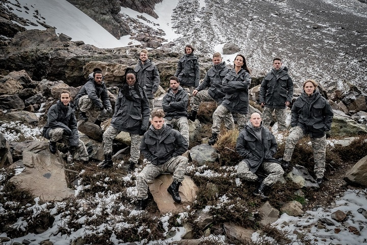 SU2C Celebrity SAS: Who Dares Wins recruits sitting on some rocks