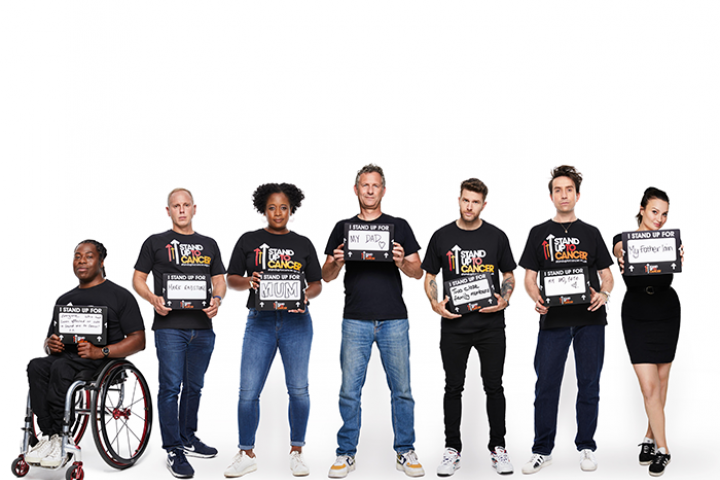 Celebrity line up for Stand Up To Cancer
