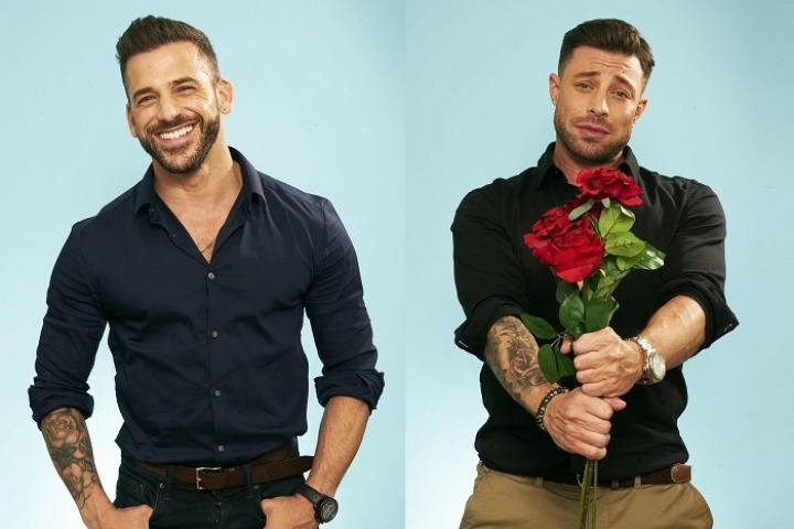 Duncan with his date, Joao on First Dates for Stand Up To Cancer