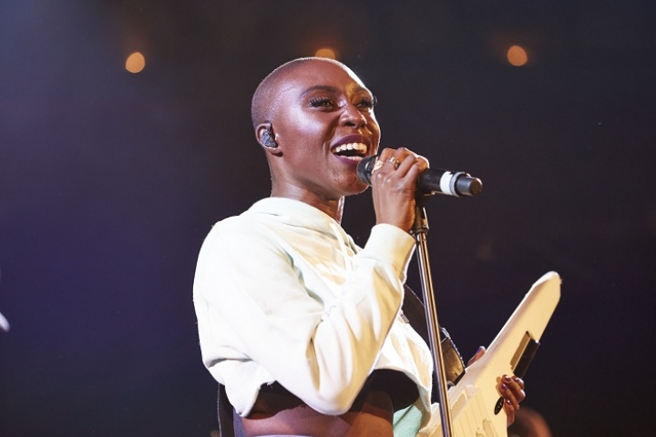 Singer, Laura Mvula at Union Chapel in aid of Stand Up To Cancer