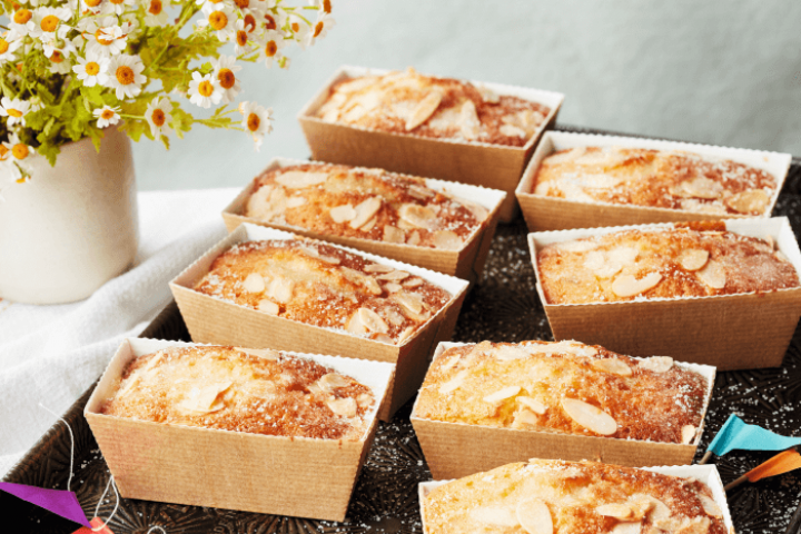 Lemon, Lime and Ginger Drizzle Cakes