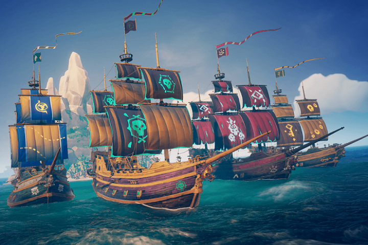 Ships from Sea of Thieves