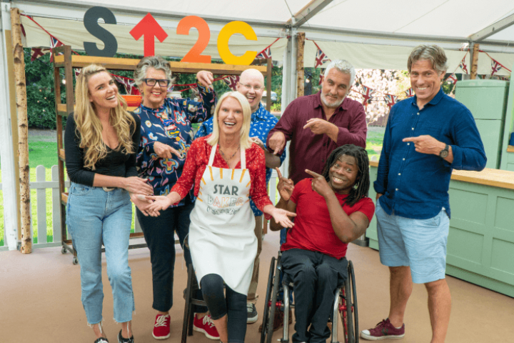 The Great Stand Up To Cancer Bake Off 2021 episode 5 celebrities