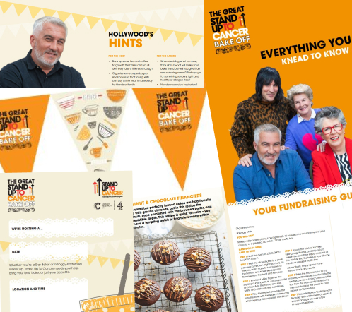 Contents of the Bake Off fundraising kit