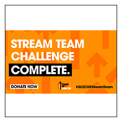 Stand Up To Cancer Stream Team Challenge Complete Image Overlay