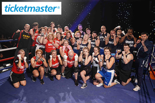 Ticketmaster employees taking on a staff boxing challenge to raise money for stand up to cancer