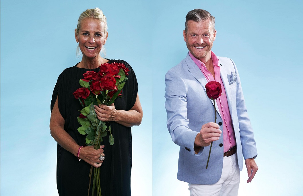Ulrika with her date from the First Dates Hotel Stand Up To Cancer special