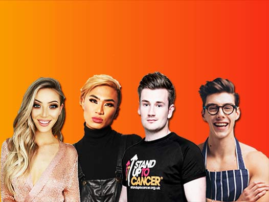 The Stand Up To Cancer YouTube line up including Oli White